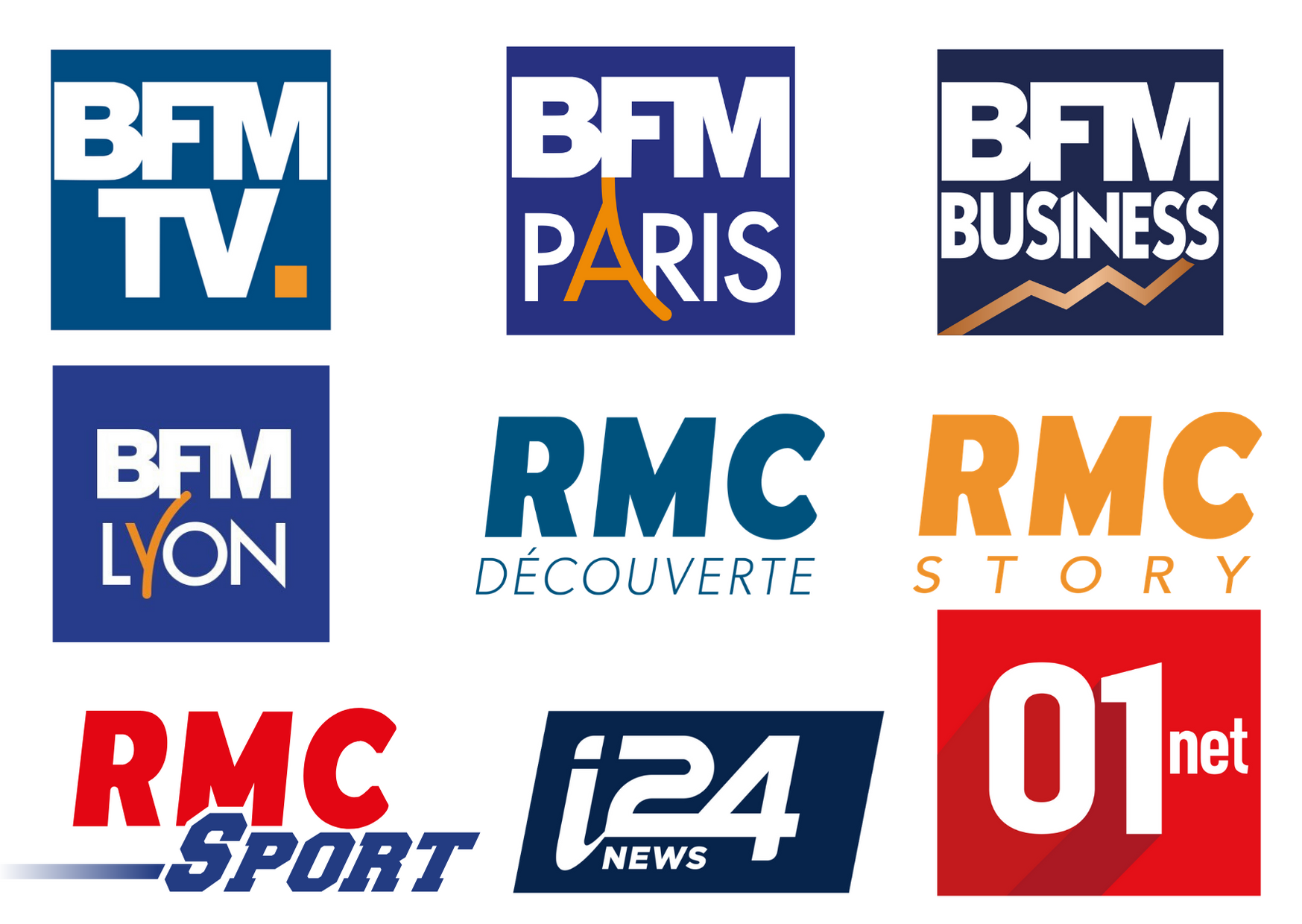 Logos de RMC BFM etc...