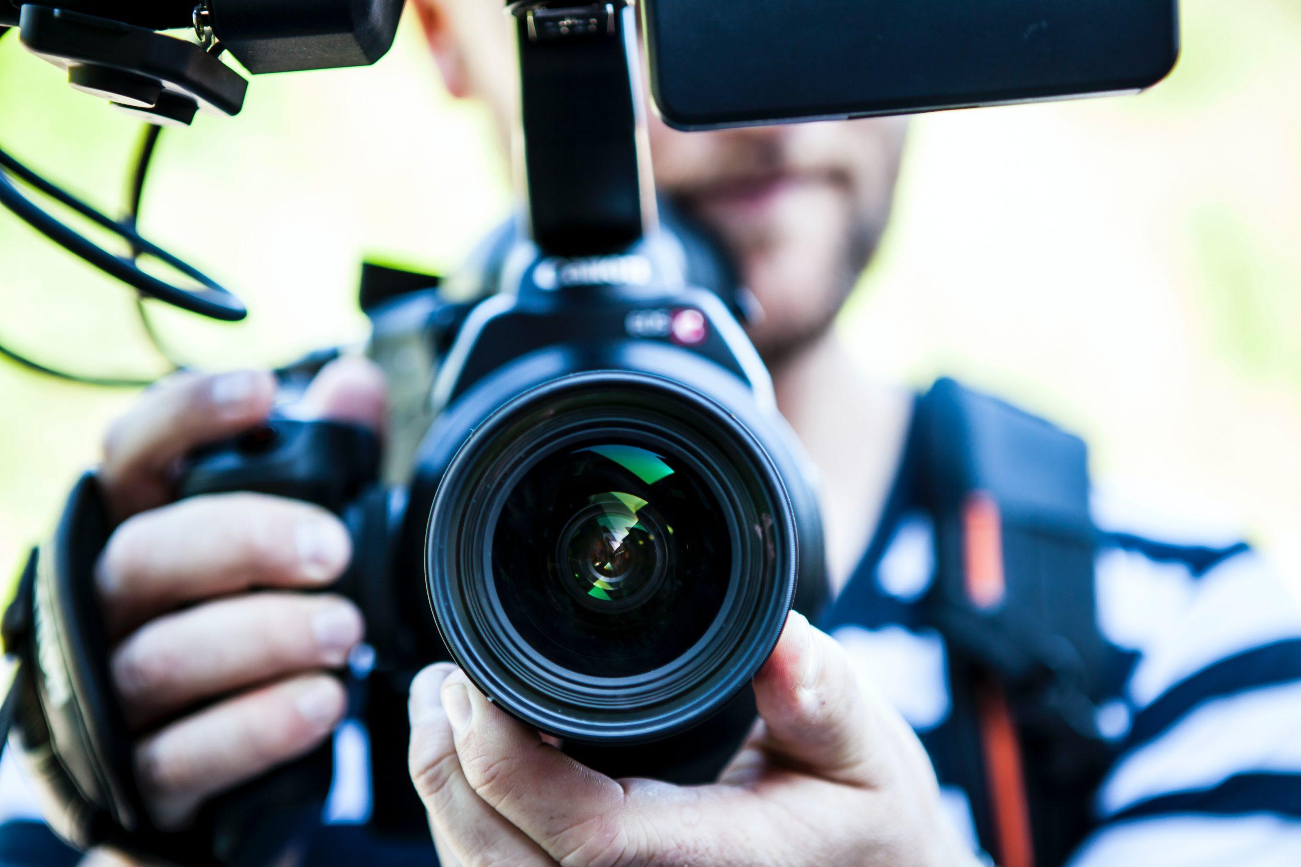 caméra de journaliste