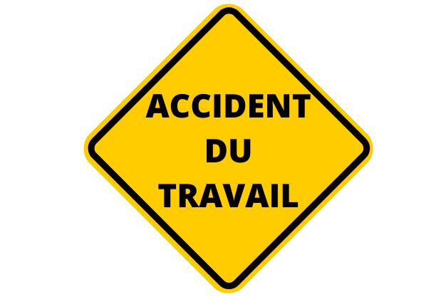 panneau jaune accident du travail