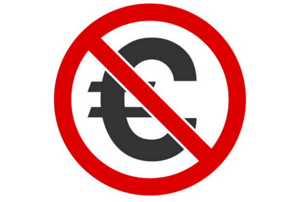 signe euro barré