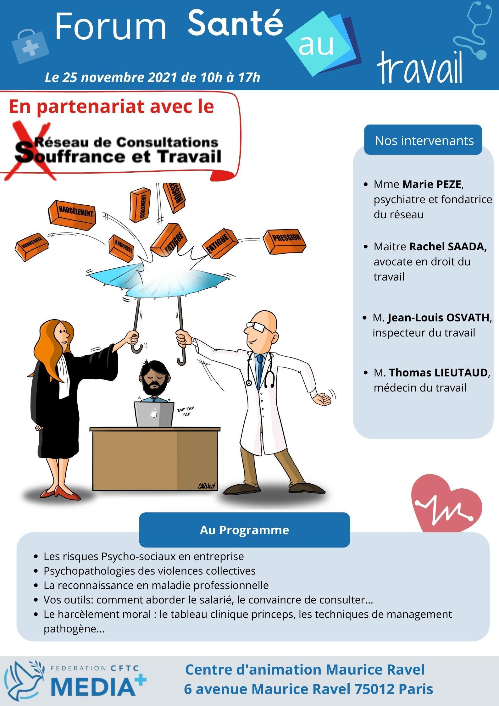 Forum Santé au Travail