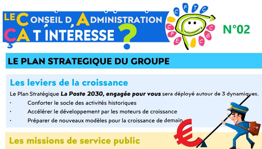 Le plan stratégique du Groupe La Poste