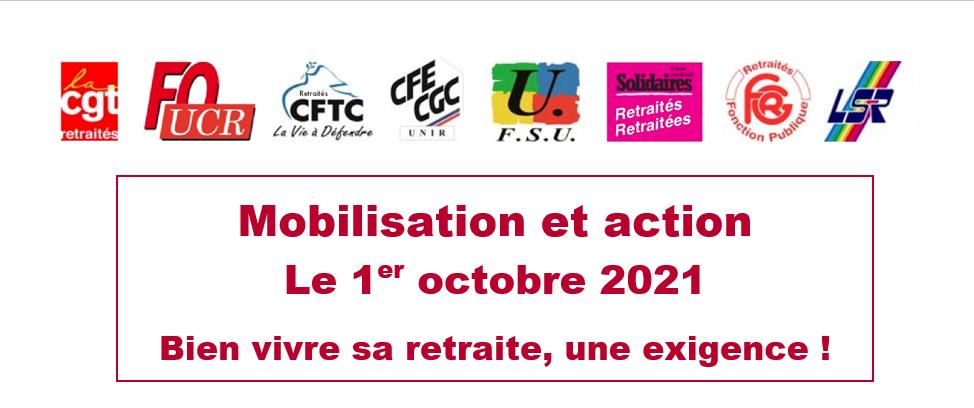 Retraites : Mobilisation et action le 1er octobre 2021